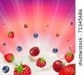 strawberry  raspberry  bilberry ... | Shutterstock . vector #71345686