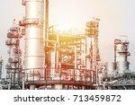 industrial zone the equipment... | Shutterstock . vector #713459872
