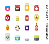 cartoon canned  preserve and... | Shutterstock .eps vector #713460145