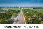 high angle shots of railroad... | Shutterstock . vector #713464546