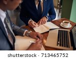 cropped image of business... | Shutterstock . vector #713465752