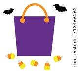 trick or treat goodie bag | Shutterstock .eps vector #713466562