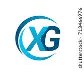 initial letter xg logotype... | Shutterstock .eps vector #713466976