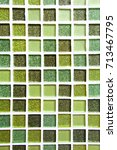 abstract green square pixel... | Shutterstock . vector #713467795