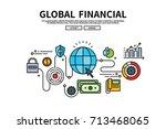 flat line vector editable... | Shutterstock .eps vector #713468065