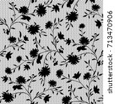 black and white lace  floral... | Shutterstock .eps vector #713470906