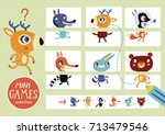 assemble the pictures. mini... | Shutterstock .eps vector #713479546