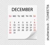 monthly calendar 2018 with page ... | Shutterstock .eps vector #713485756