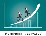 growth business teamwork success | Shutterstock .eps vector #713491636