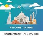 india landmark global travel... | Shutterstock .eps vector #713492488