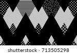 vector seamless pattern.... | Shutterstock .eps vector #713505298