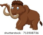 cartoon mammoth isolated on... | Shutterstock .eps vector #713508736