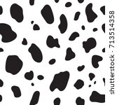 cow seamless pattern. black and ... | Shutterstock .eps vector #713514358