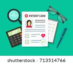 patient card vector... | Shutterstock .eps vector #713514766