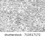 halftone black and white.... | Shutterstock .eps vector #713517172