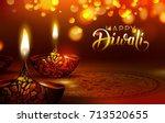 diwali festival poster. diwali... | Shutterstock .eps vector #713520655