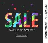 sale poster  banner. special...   Shutterstock .eps vector #713525332