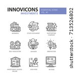 investments   modern vector... | Shutterstock .eps vector #713526802