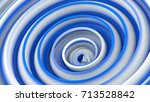 white blue twisted shape.... | Shutterstock . vector #713528842
