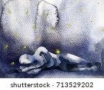 sad sadness emotion feeling... | Shutterstock . vector #713529202