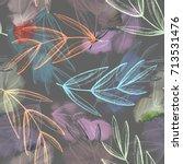 autumn leaves seamless pattern. ...   Shutterstock . vector #713531476