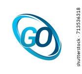 letter go logotype design for... | Shutterstock .eps vector #713536318