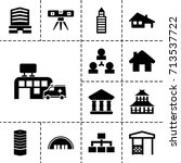 structure icon. set of 13... | Shutterstock .eps vector #713537722
