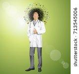 vector idea concept with... | Shutterstock .eps vector #713545006