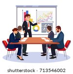 people in meeting room isolated ... | Shutterstock .eps vector #713546002