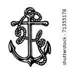 anchor   retro ad art... | Shutterstock .eps vector #71355178