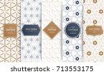 vector seamless geometric... | Shutterstock .eps vector #713553175