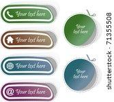 contact element set for design. ... | Shutterstock .eps vector #71355508