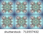raster design. winter doodles... | Shutterstock . vector #713557432