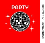 disco ball vector icon disco... | Shutterstock .eps vector #713560888