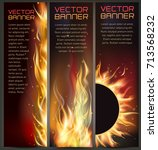 illustration of set of fire... | Shutterstock .eps vector #713568232