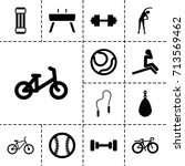 exercise icon. set of 13 filled ... | Shutterstock .eps vector #713569462