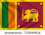 sri lanka flag background with... | Shutterstock .eps vector #713569816