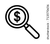 money search icon | Shutterstock .eps vector #713570656