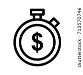 stop watch icon | Shutterstock .eps vector #713570746