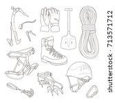 alpine icon pack. vector... | Shutterstock .eps vector #713571712