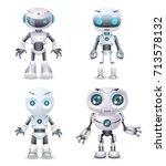 robot innovation technology... | Shutterstock .eps vector #713578132