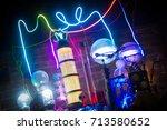 neon laboratory  | Shutterstock . vector #713580652