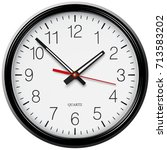 vector classic round wall clock ... | Shutterstock .eps vector #713583202