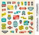 collection of colorful hot sale ... | Shutterstock .eps vector #713586892