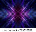 abstract dynamic violet... | Shutterstock . vector #713593702