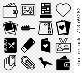 card icons set. set of 16 card... | Shutterstock .eps vector #713596282