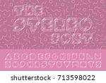 vector minimalistic font.... | Shutterstock .eps vector #713598022