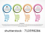 abstract infographic with light ... | Shutterstock .eps vector #713598286