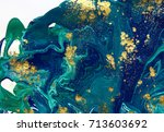 marbled abstract background.... | Shutterstock . vector #713603692