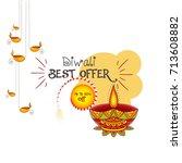 vector illustration or greeting ... | Shutterstock .eps vector #713608882
